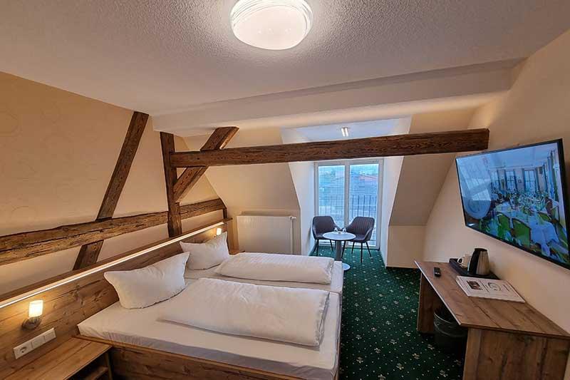 Doppelzimmer mit Fachwerk