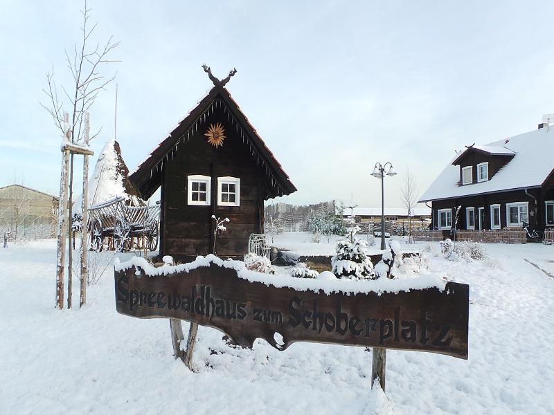 Spreewaldhaus zum Schoberplatz im Winter