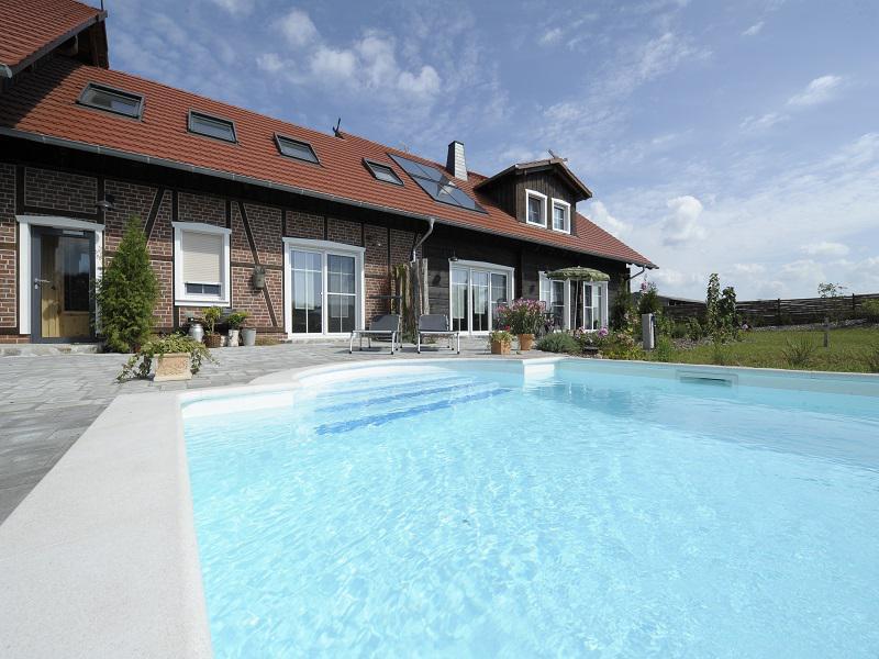 Spreewaldhaus zum Schoberplatz Poolbereich