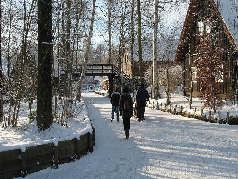 Eislaufen im Spreewald