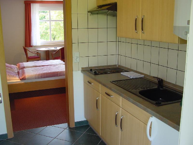 Apartmentküche in der Pension Spreeaue in Burg Spreewald