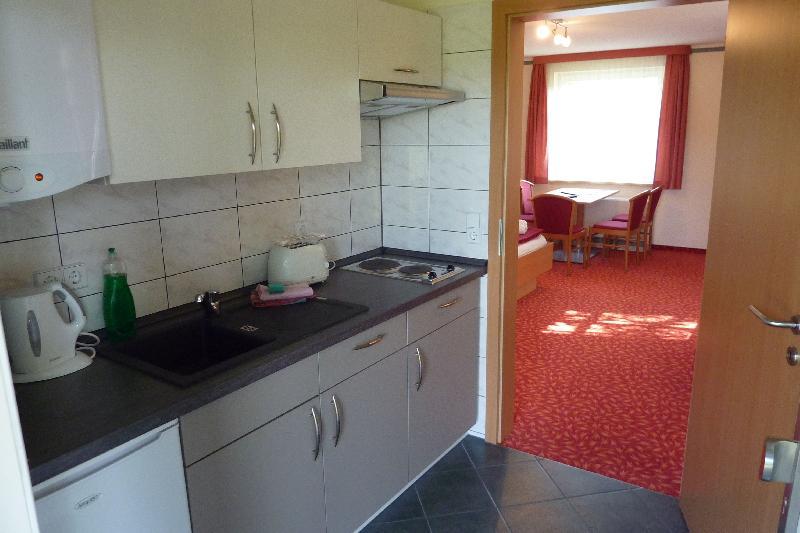 Küche in der Pension Spreeaue in Burg Spreewald