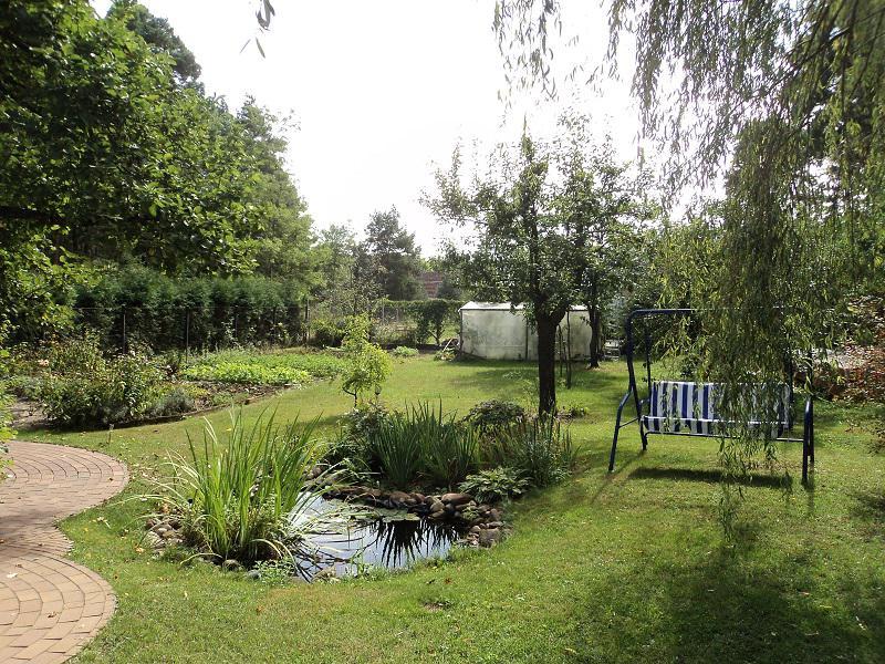 Scheunenhaus Kienspan Blick in den Garten