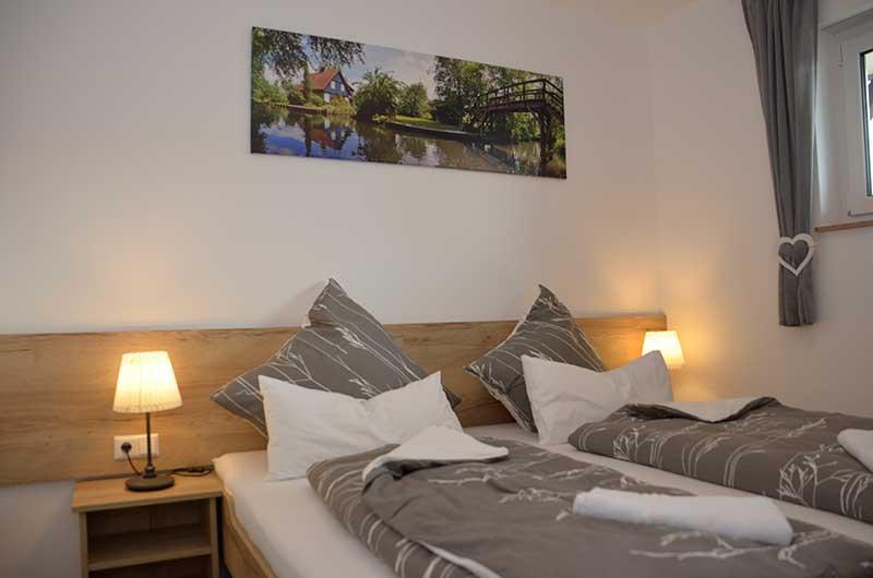 Doppelbetten in der Ferienwohnung