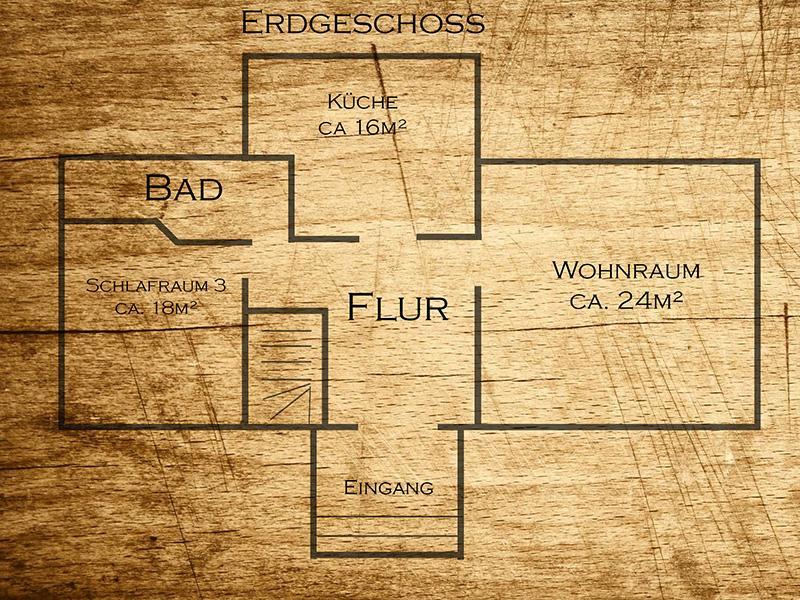 Hexenhaus - Grundriss Erdgeschoss