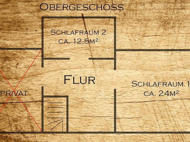 Hexenhaus - Grundriss Obergeschoss