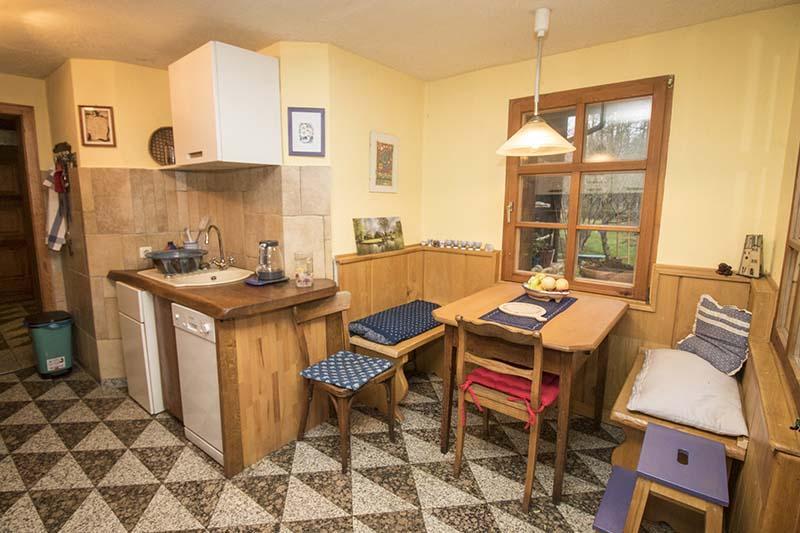 Hexenhaus - Sitzecke in der Küche