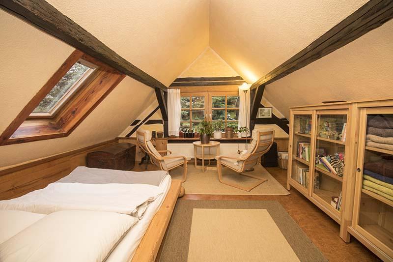 Hexenhaus - Schlafzimmer 1 im Obergeschoss