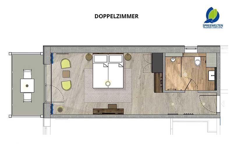 Hotel Spreewelten Grundriss Doppelzimmer