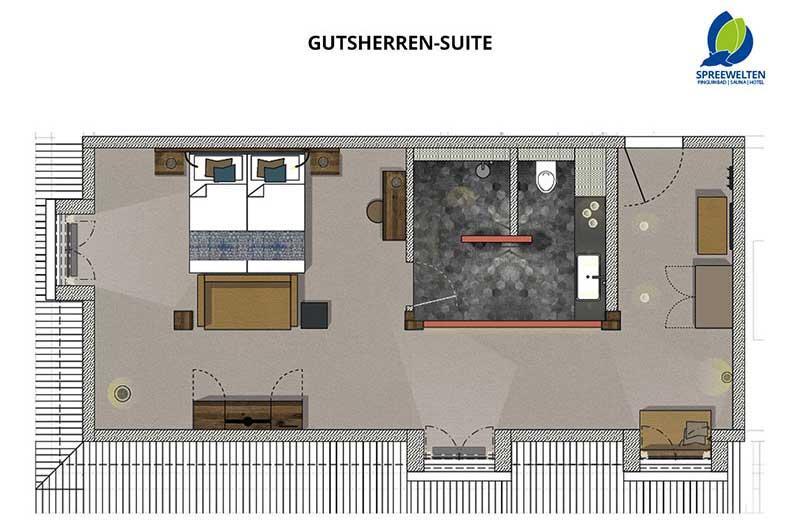Hotel Spreewelten Grundriss Gutsherren Suite