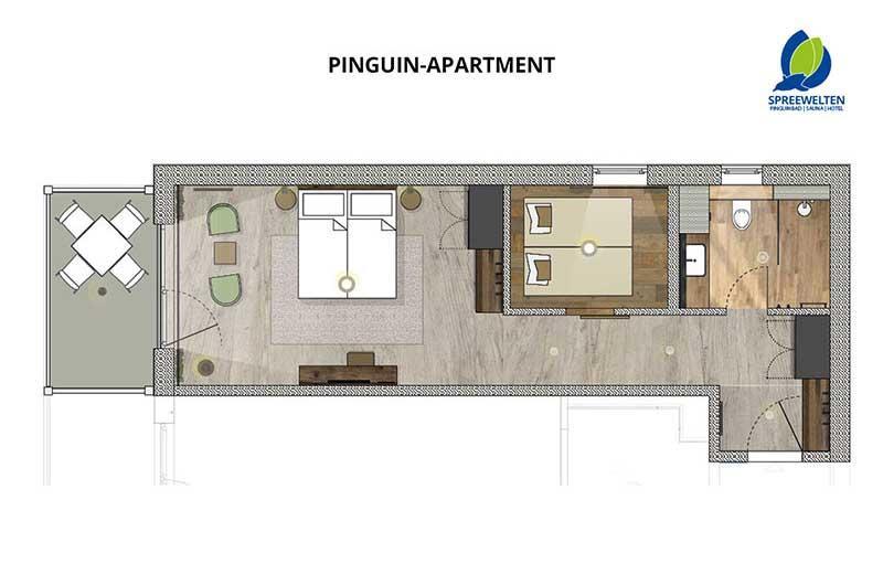 Hotel Spreewelten Grundriss Pinguinzimmer